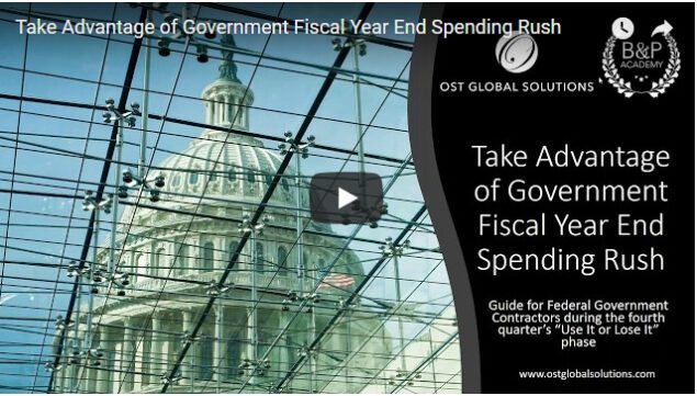 How to Take Advantage of Government Fiscal Year End Spending Rush