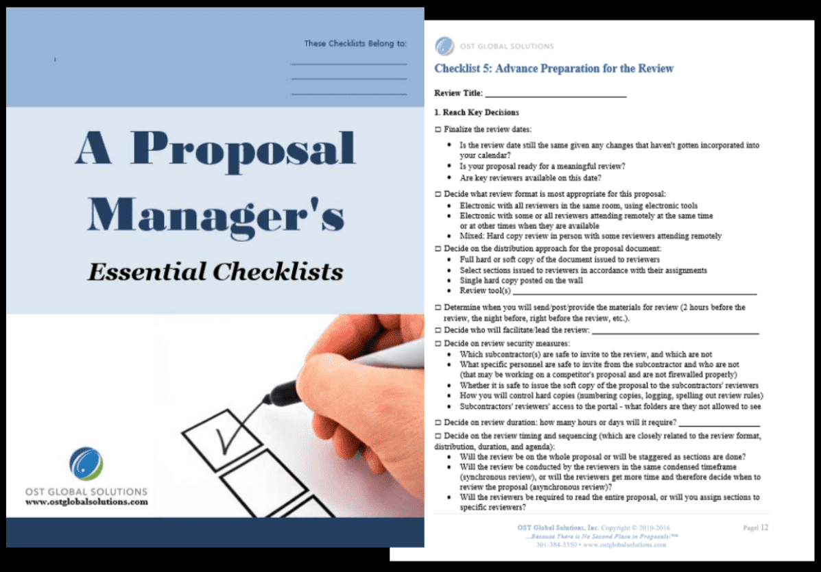 Improving Your Government Proposals' Pwin Part 6 Use Checklists and Templates 2
