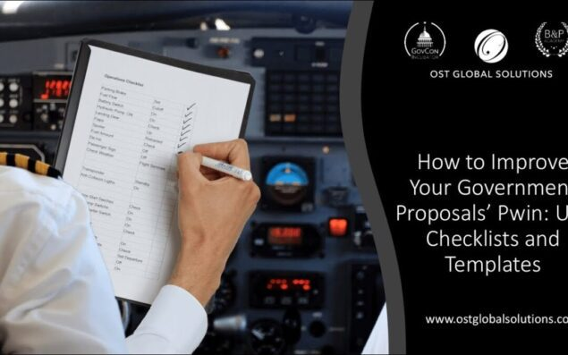 Improving Your Government Proposals' Pwin Part 6 Use Checklists and Templates