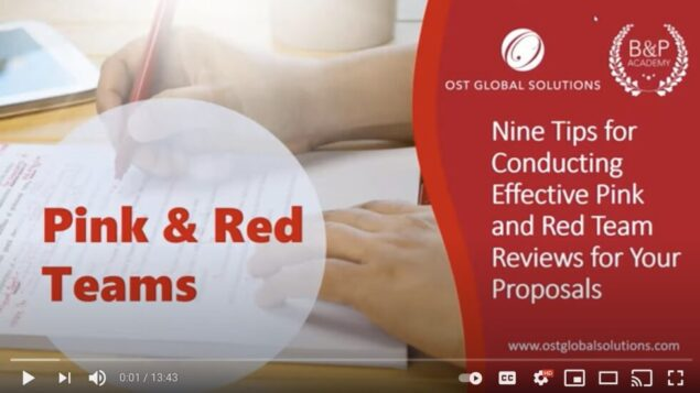 Nine Tips for Conducting Effective Pink and Red Team Reviews for Your Proposals