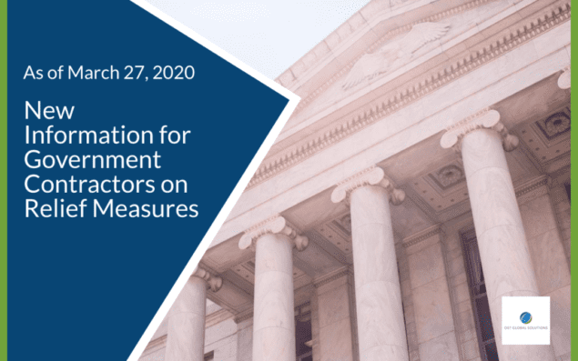 New Information for Government Contractors on Relief Measures