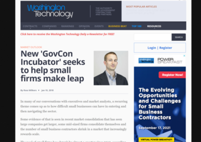 New 'GovCon Incubator' seeks to help small firms make leap